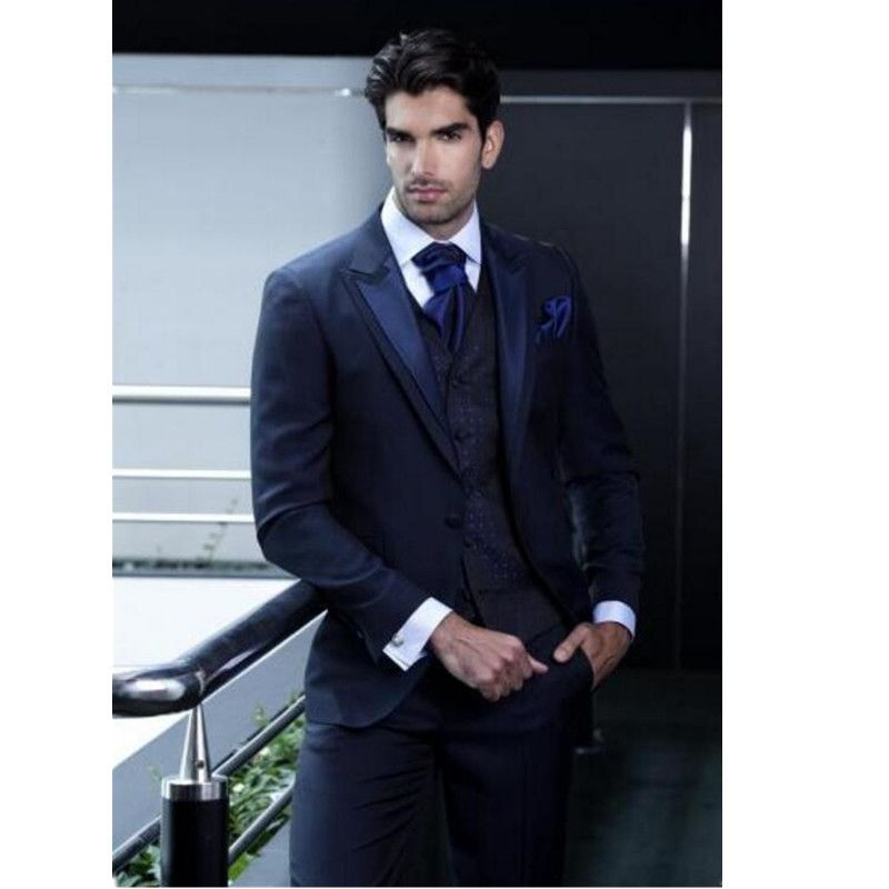 Click to Buy << The New men suits Custom Made groom suits Tuxedo ...