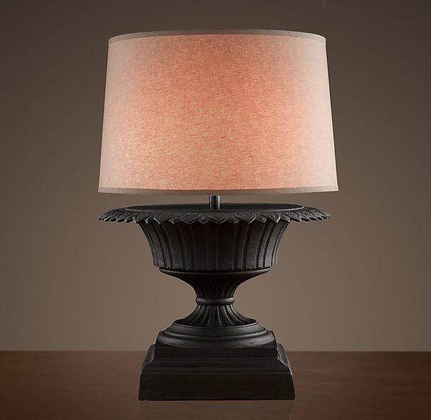 Iron Fluted Urn Table Lamp- Restoration Hardware