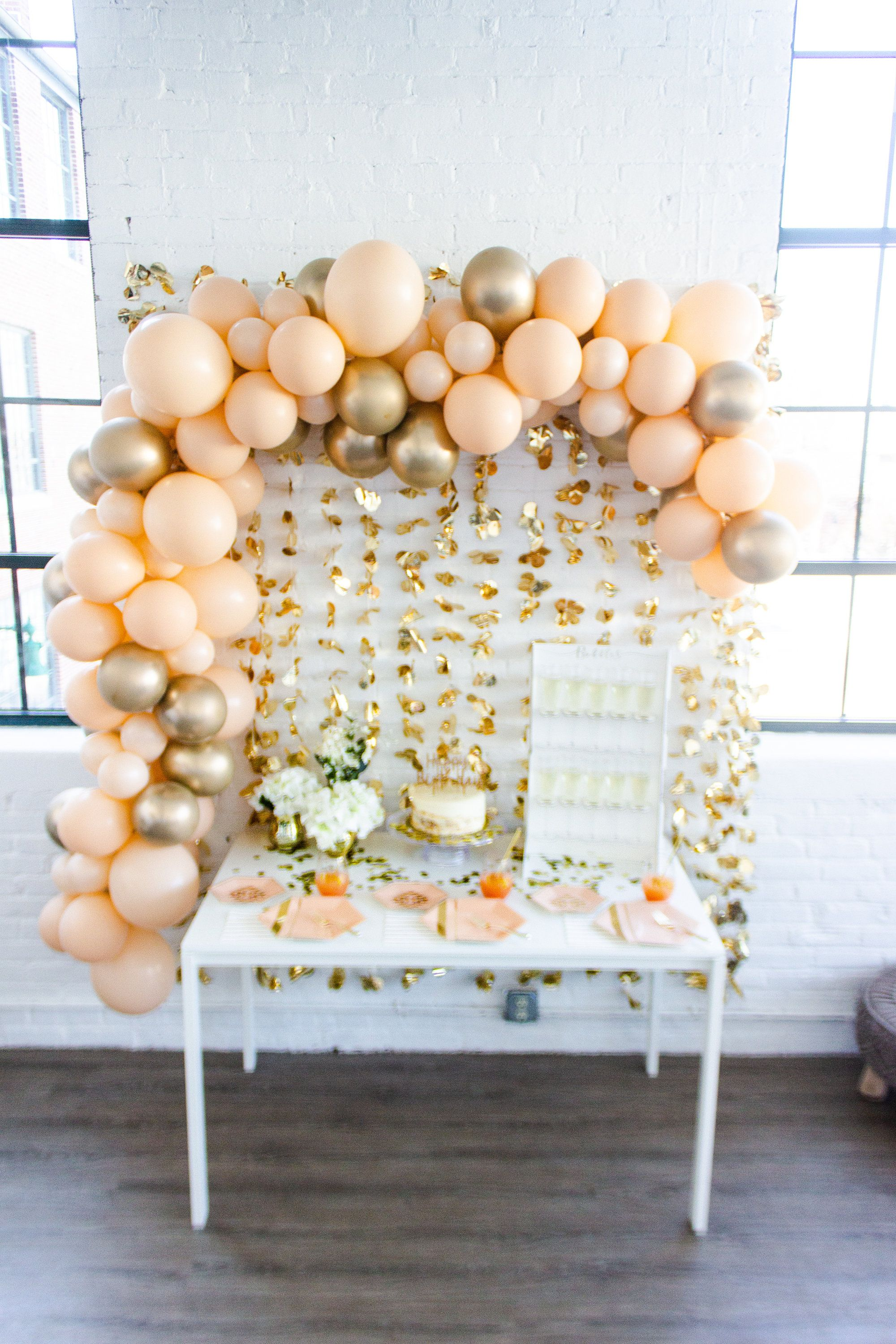Blush & Gold Balloon Garland Pump Included! Create Your