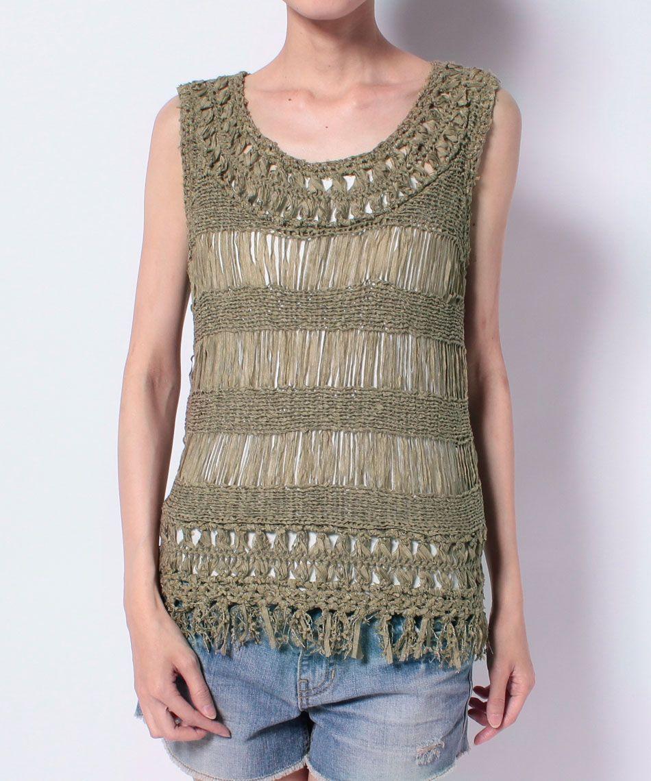 Hairpin Crochet Top. Hairpin crochet neckline and fringe hem ...