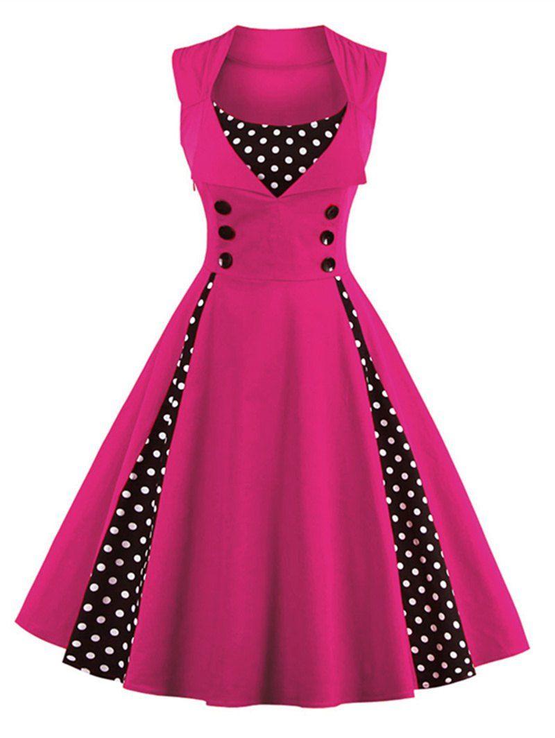 Polka Dot Midi Prom Dress | Moda vestidos, Vestiditos y Vestidos niña
