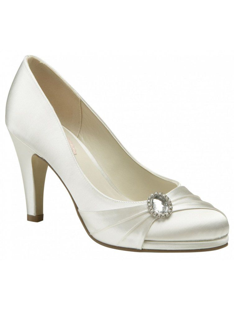 Strawberry Ivory Satin 8cm Heel Wedding Shoes By Pink Paradox Sold Dyeable Wedding Shoes Bridal Shoes Wedding Shoes Heels