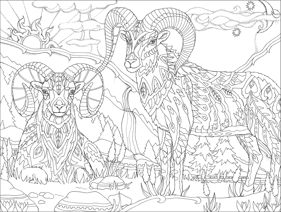 trippy coloring book pages for adults