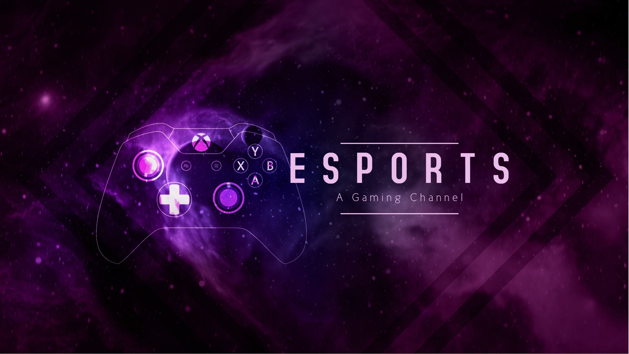 Esports YouTube gaming cover art template design