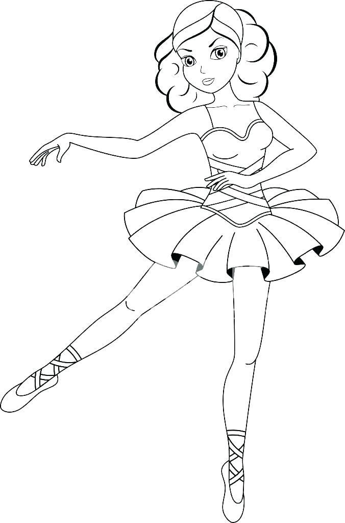 Princess Ballerina Colouring Pages Barbie Ballet Coloring