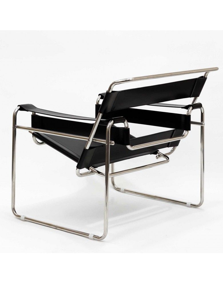 Charmant Leather Strap Chair In Black $319