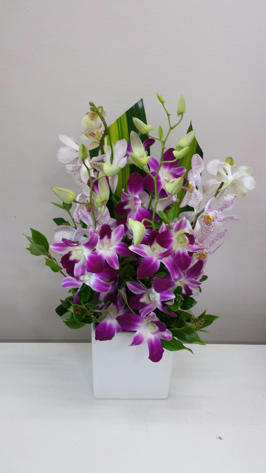 Orchid Ceramic Corporate flowers, Flower arrangements