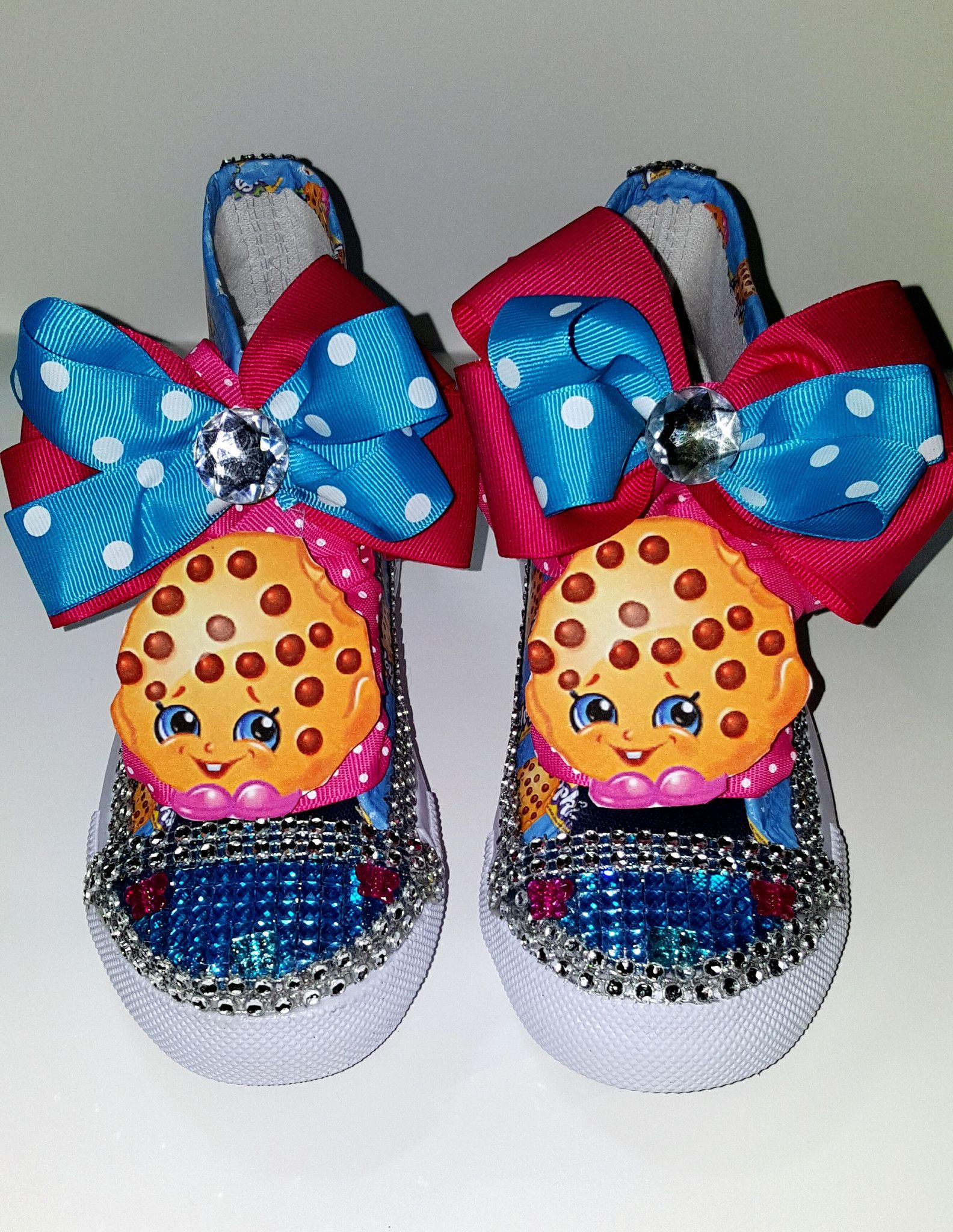 d82068ca1f Limited Edition Shopkins Blue Kooky Cookie Inspired Shoe (NON-CONVERSE)