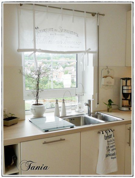Raffrollos Landhausstil Szukaj W Google Landhausstil Haus Stile Raffrollos