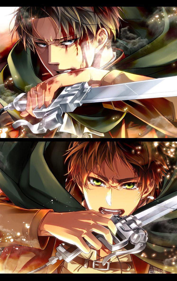 Levi and Eren ~ Attack on Titan | Shingeki no kyojin ...