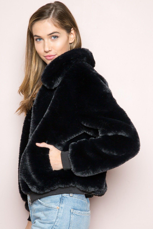 f8a014e19 Brandy ♥ Melville | Georgina Fur Bomber Jacket - Clothing | New ...