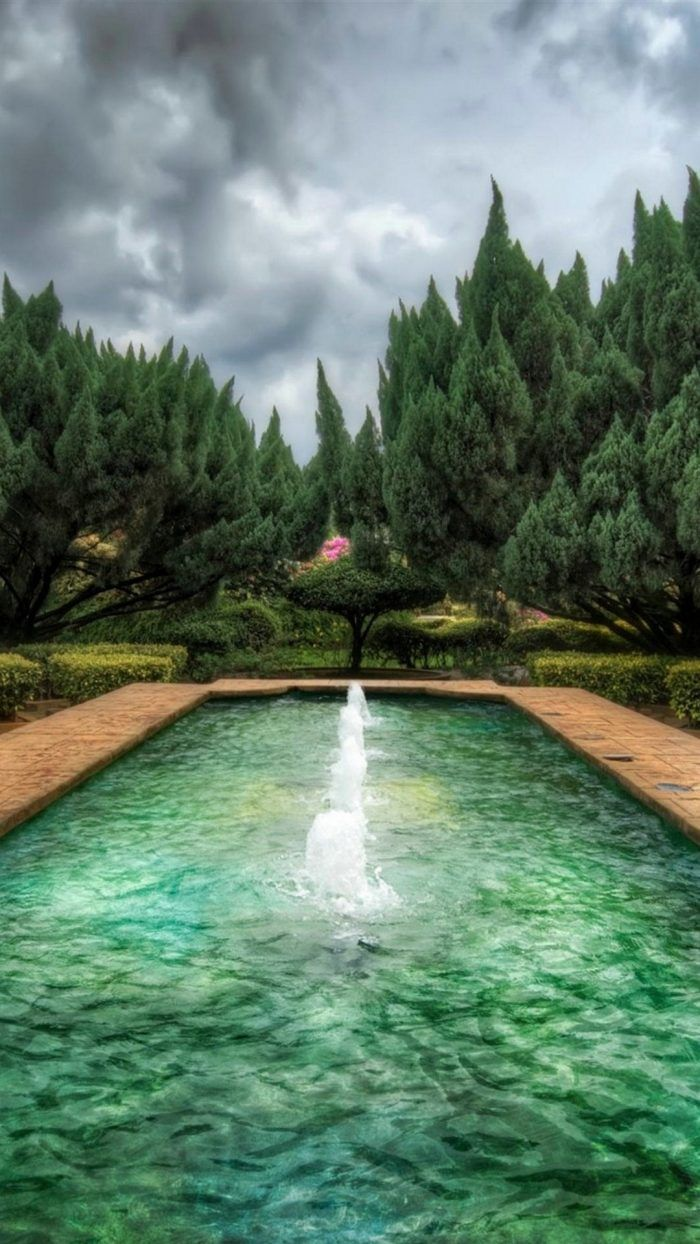 Nature iPhone Wallpaper 1080p HD Fountain design