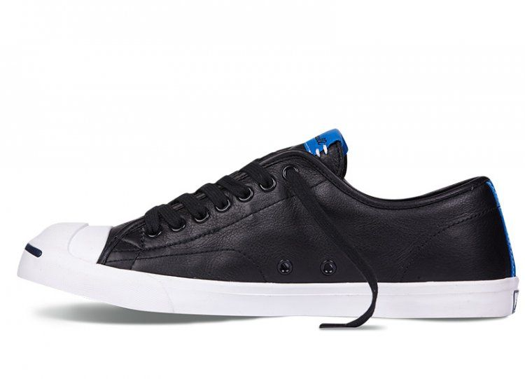 Converse Jack Purcell Slim Black OX Leather Shoes #converse