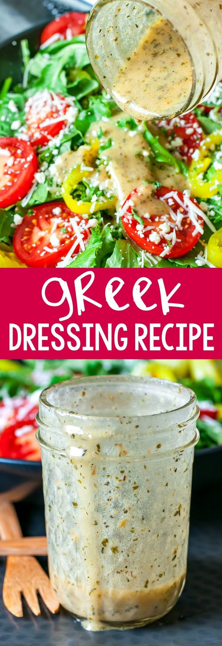 Ditch the bottled dressing and whip up this super quick super easy homemade Greek dressing at home This speedy mediterranean dressing uses a few simple and flavorful ingr...