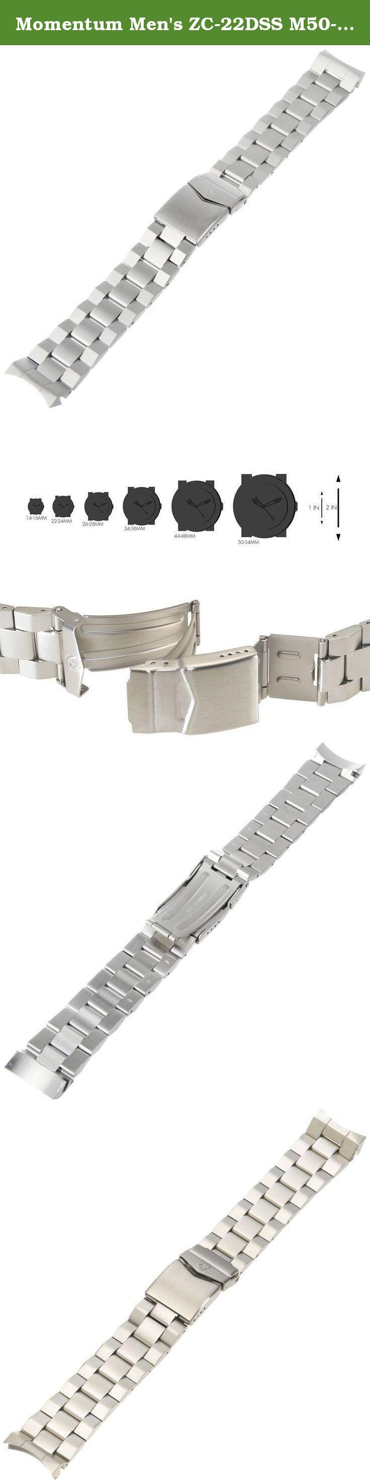 Momentum Men's Zc22dss M50dss 22mm Stainlesssteel Watch Bracelet St
