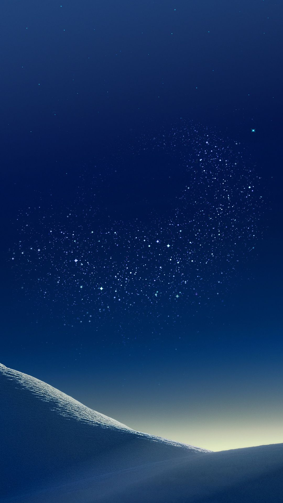 Mountain Wallpaper Galaxy Tranquil Beauty Nature Peaceful Calming Night Blue Stars Digital Art Samsung