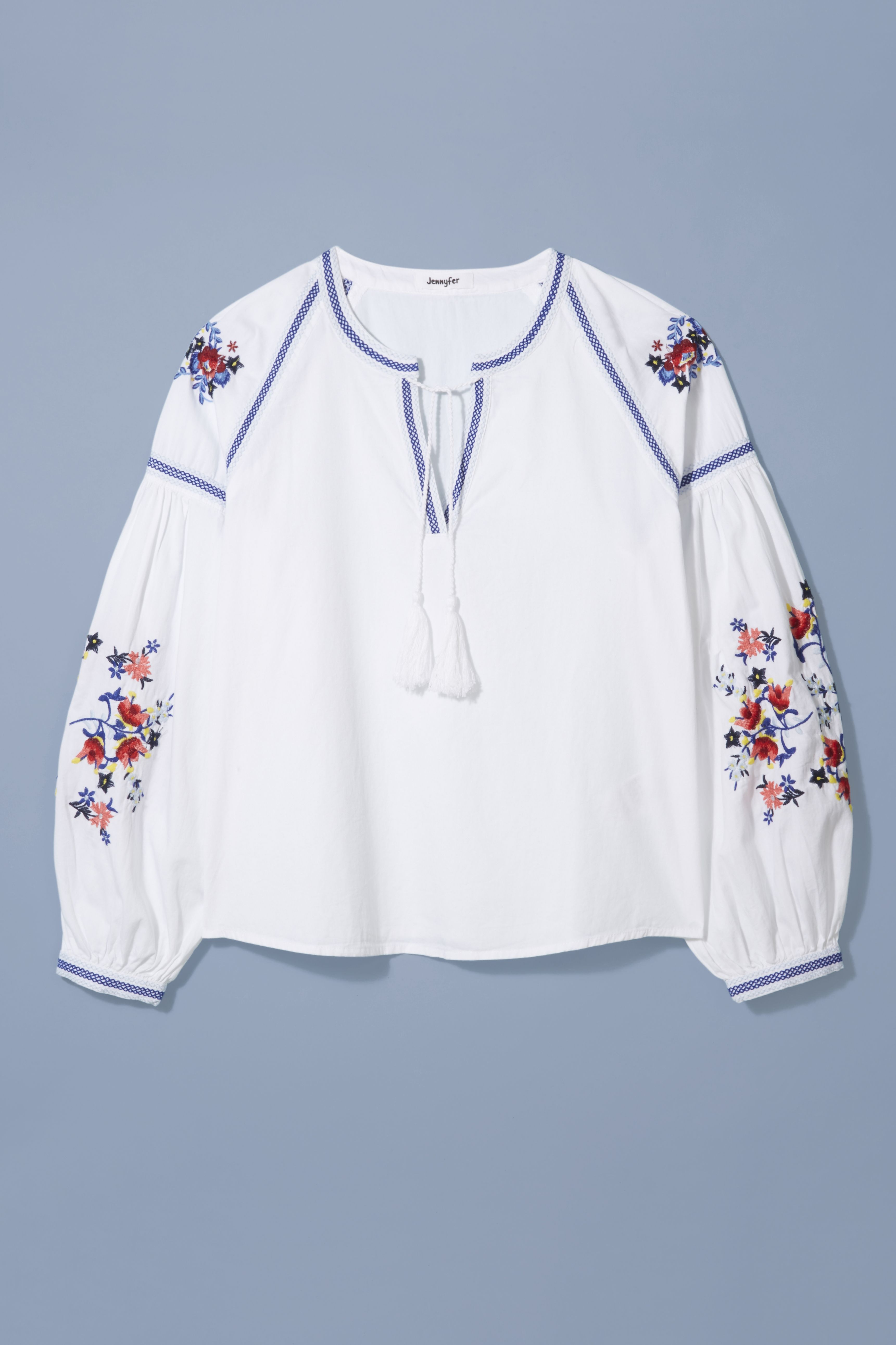 0d53d9420b31 An embroidered bohemian blouse is a summer essential for effortless holiday  style. Add denim shorts and statement sandals to Jennyfer s cool cover-up  for a ...
