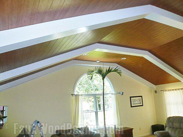 15 Faux Wood Ceiling Beam Ideas Photos White Beams Wood Beam