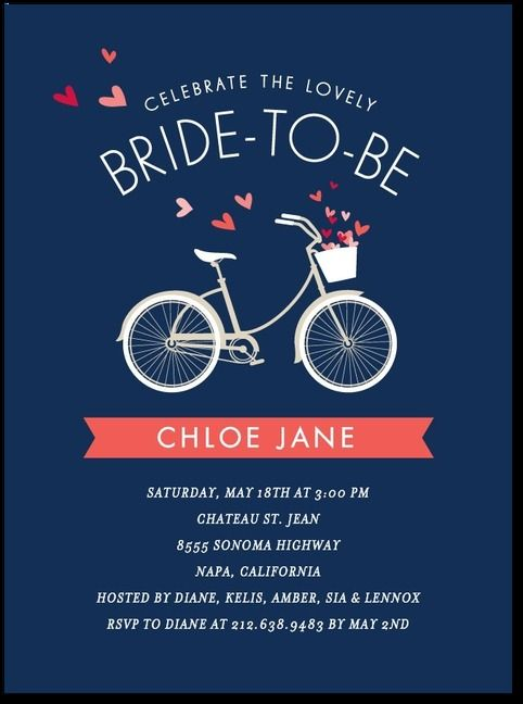 Bridal bicycle wedding shower invitation stormy blue wbc coral bridal bicycle wedding shower invitation stormy blue filmwisefo