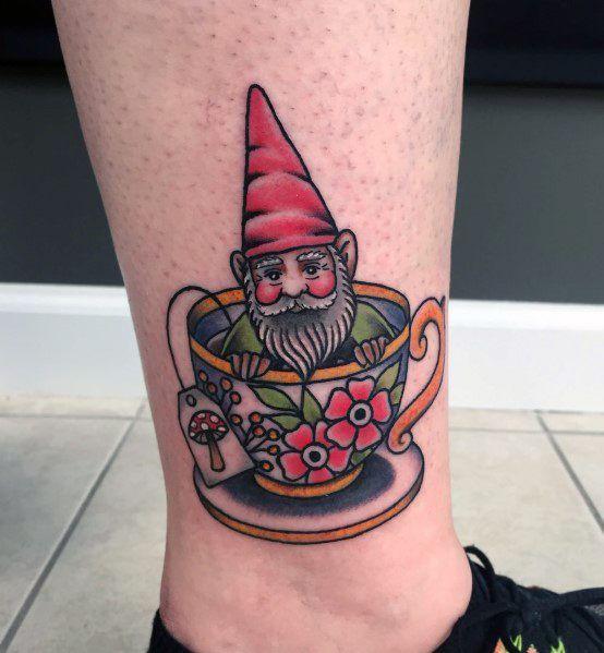 60 Gnome Tattoo Designs für Männer – Folklore-Tinte Ideen - Mann Stil | Tattoo