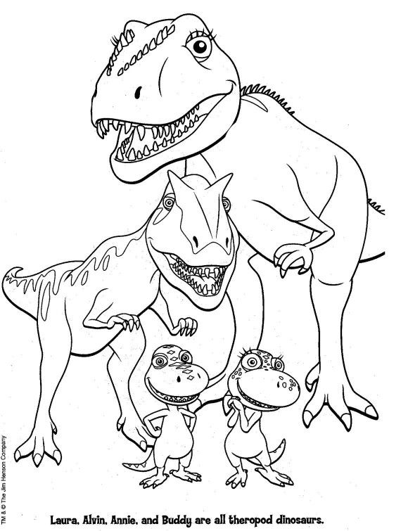 kleurplaat: dino | a needle pulling thread | train coloring pages