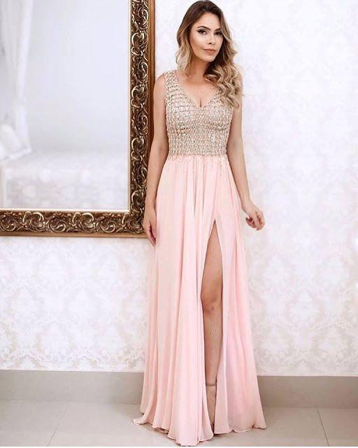 Bolsa De Festa Para Vestido Rosa : Vestido de festa rosa claro nude e ros? vestidos