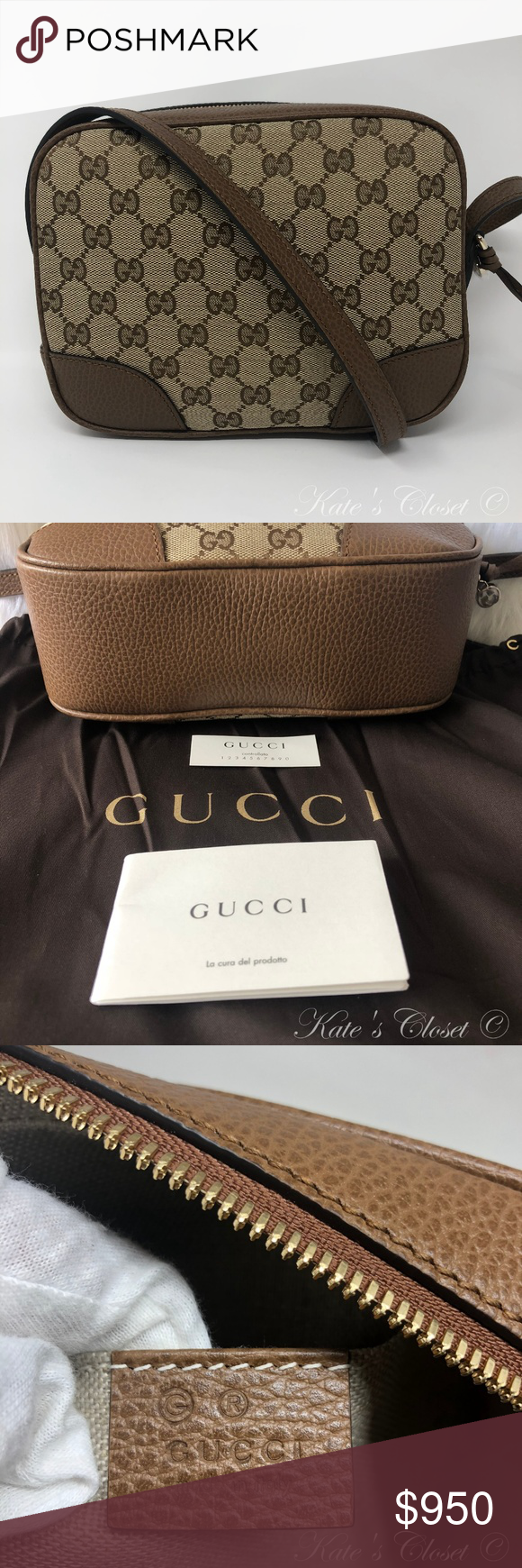 1781c5935989 NEW GUCCI GG Canvas Dollar Calf Crossbody 449413 Brand New. Never been  Used. Control# 449413-568024 Approx size: 8.5