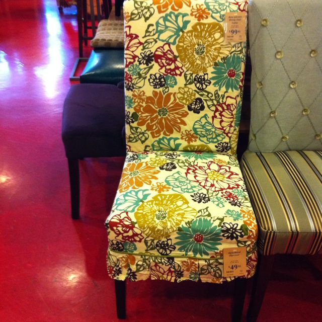 Pier 1 Dana Floral Slipcover And Adelaide Dining Chair Love The Pretty Different Slipcovers Has For These Chairs They Can Change Whole Appearance Of