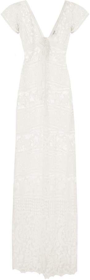 Miguelina Lace Starlight Maxi Dress