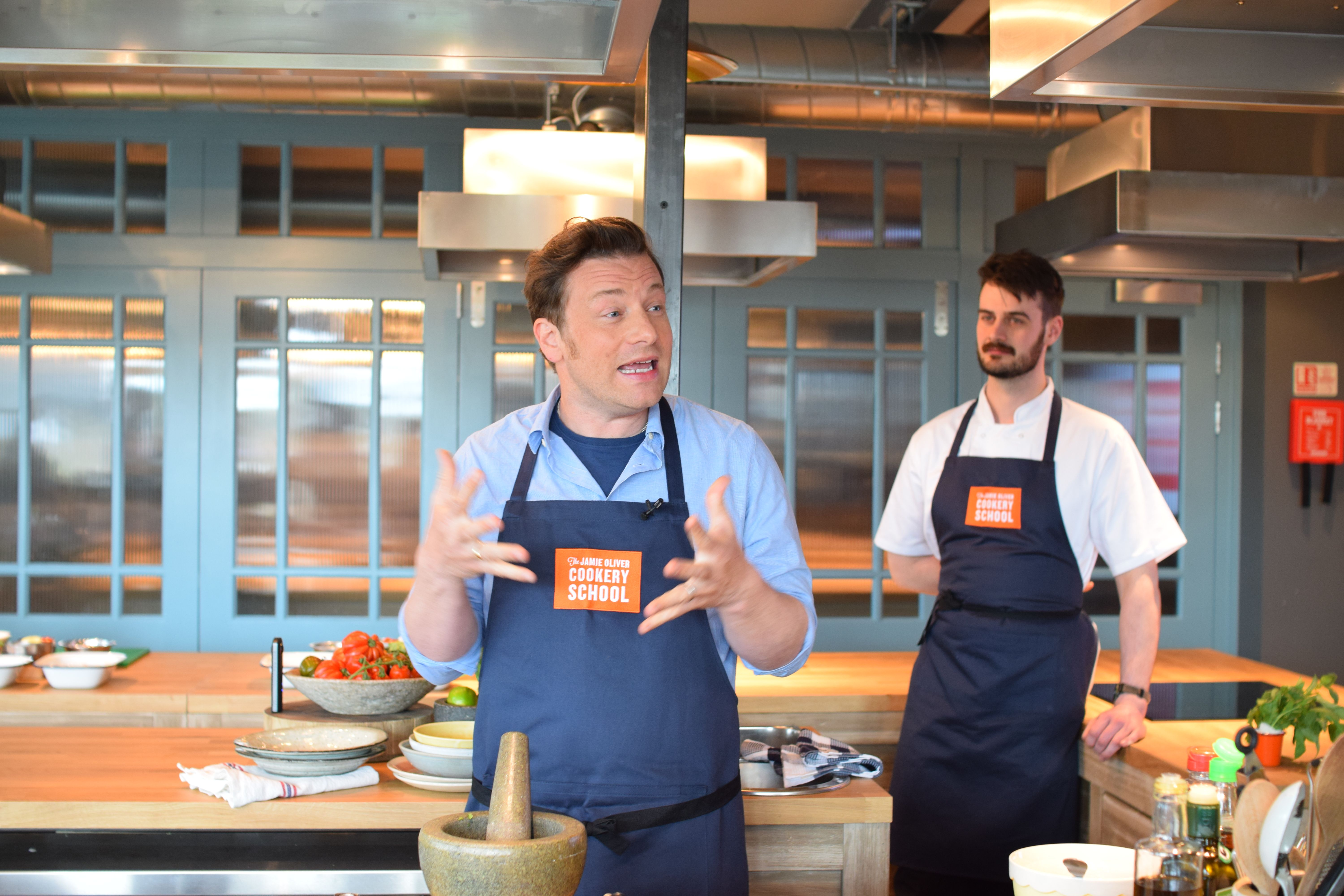 The Jamie Oliver Cookery School - for big and little kids. #jamieoliver #kidslondon #cookeryschool