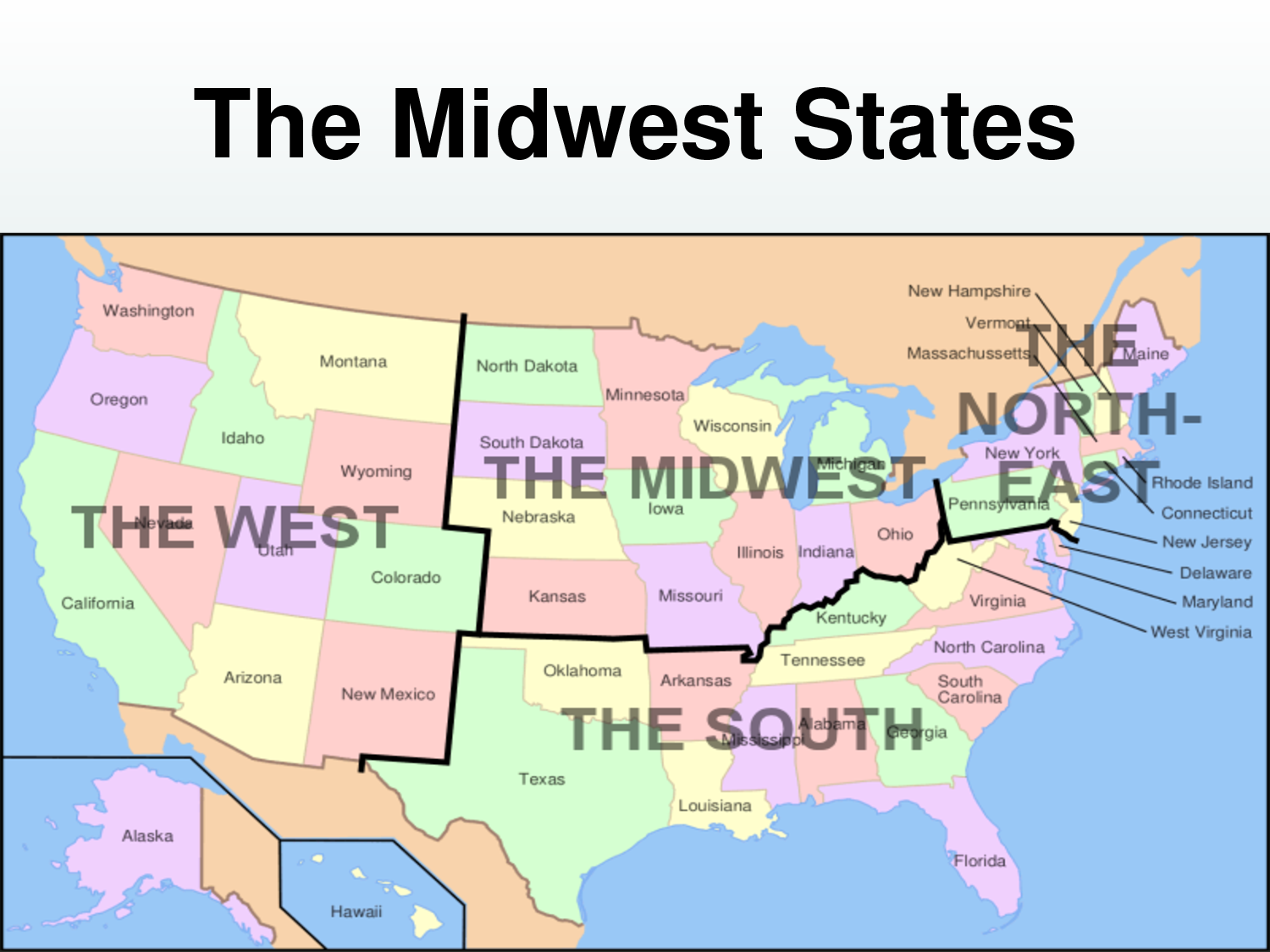 midwestern states - Google Search | AWESOME | Map, State map, South usa