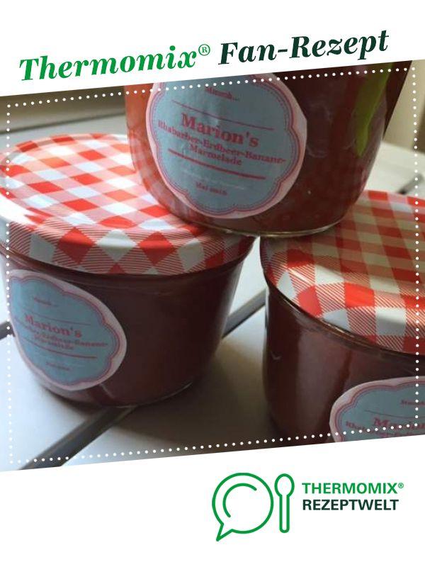 Rhabarber Erdbeer Banane Marmelade | Recipe | Thermomix