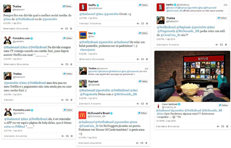 Itaú, Netflix, Ponto Frio e Coca-cola entram em disputa saudável no SAC SOCIAL pelo twitter