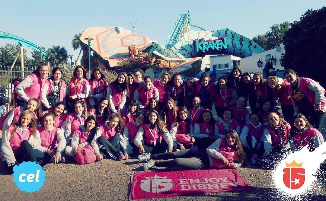 El grupo #celesteF16 en #Disney!!  Toda la magia con #enjoy15 #15 #febrero2016