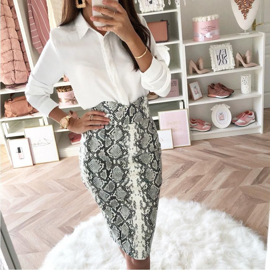 d9df45d90a New Women Snake Skin Bodycon Skirt Female High Waist Elegant Sexy snakeskin  Pencil Skirts Party Club Cocktail wear slim skirt