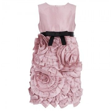 Milly Minis Pink Rosette Dress