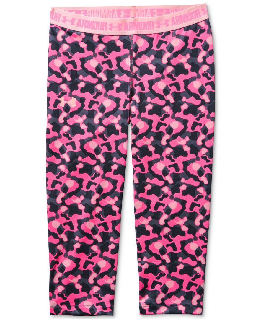 edc0ae7486932a Under Armour Girls' Mixed-Stripes Armour Capri Leggings | Pants ...