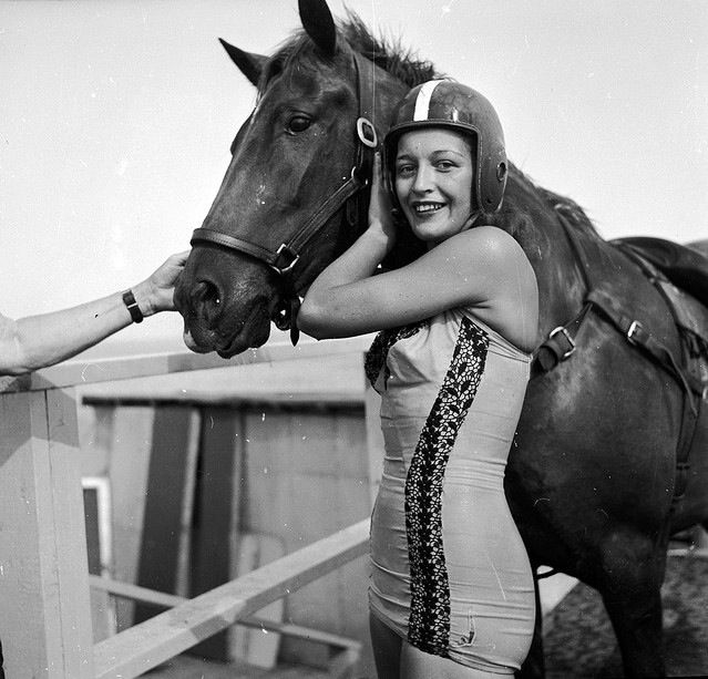 Sonora Webster Carver - horse diver in the 30's . Went blind because of it but still kept going