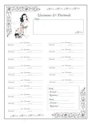 Username & Password Journal Pages | ~ Pinterest Magazine ~ | Journal
