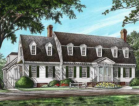 Plan 32583wp Marvelous Kitchen Colonial House Plans Cape Cod House Plans House Plans