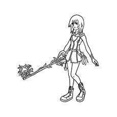 Top 25 Free Printable Kingdom Hearts Coloring Pages Online Heart