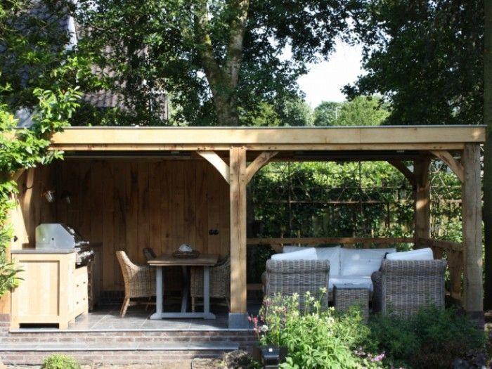 Voorbeeld voor overdekt terras projekty do wypr bowania pinterest terras - Overdekt terras in hout ...