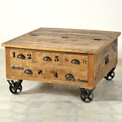 Attractive Couchtisch Truhe Mango Holz Antikfinish Wohnzimmertisch Sofatisch  Wohnzimmer   EBay Great Ideas