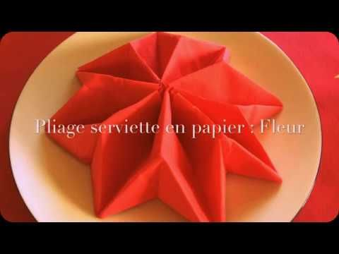 Pliage de serviette FACILE // Fleur - YouTube #foldingnapkins