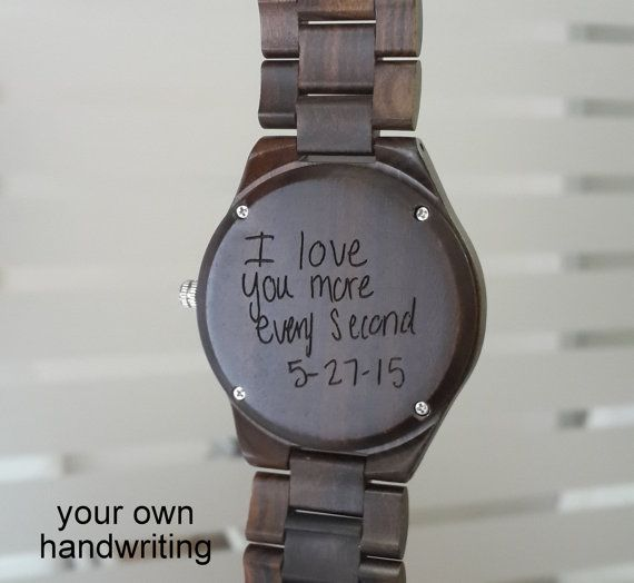Watch Time Quotes: Mens Watch, Mens Wooden Watch, Engraved Wood Watch