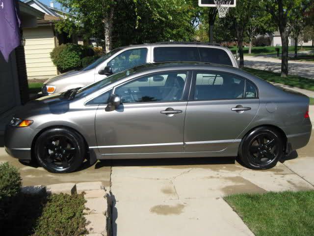 Galaxy Grey Metallic Honda Civic With Black Rims I Need On My