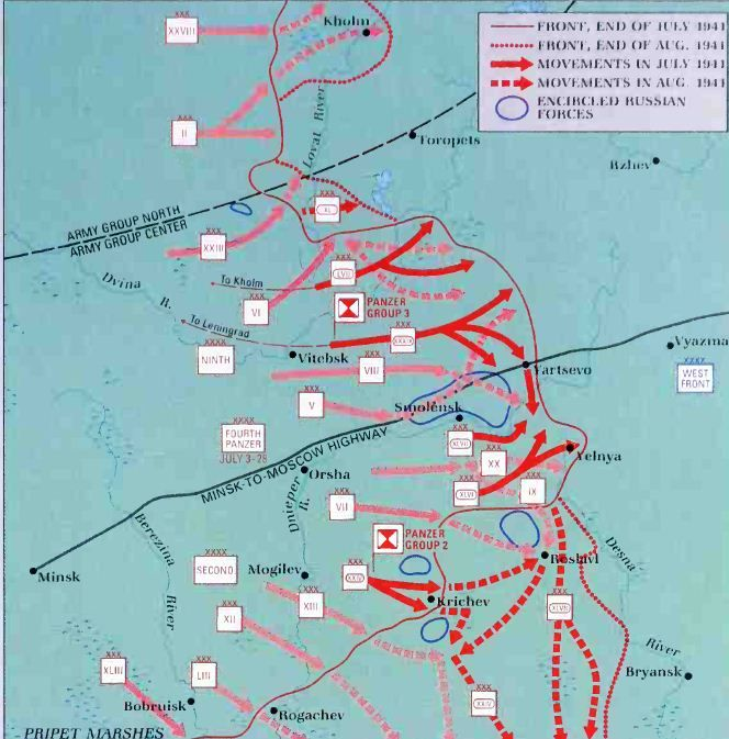 The advance to Smolensk had \