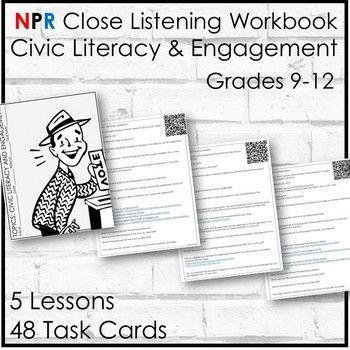 civic literacy engagement workbook 5 close listening lessons 48