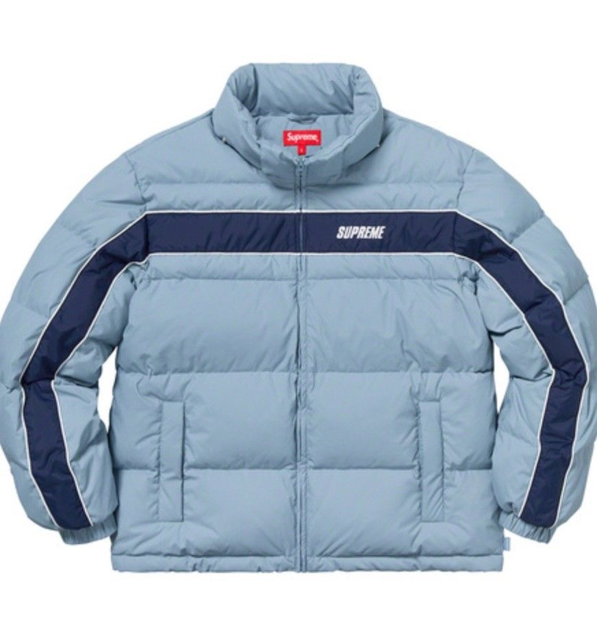 Supreme Panel Down Jacket Light Blue Sz Medium DS  fashion  clothing  shoes   accessories  mensclothing  coatsjackets (ebay link) 7ffa17efd