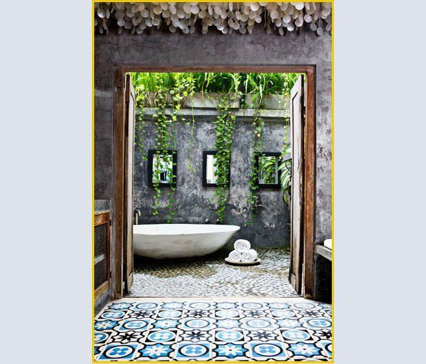 Outdoor Bali Bath   So Much Beautiful Tile